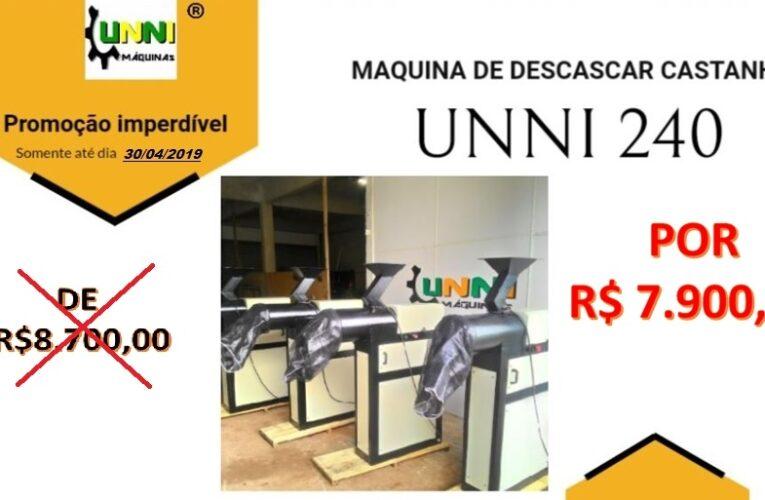 Máquina de Descascar Castanha do Pará – Mod. UNNI 240