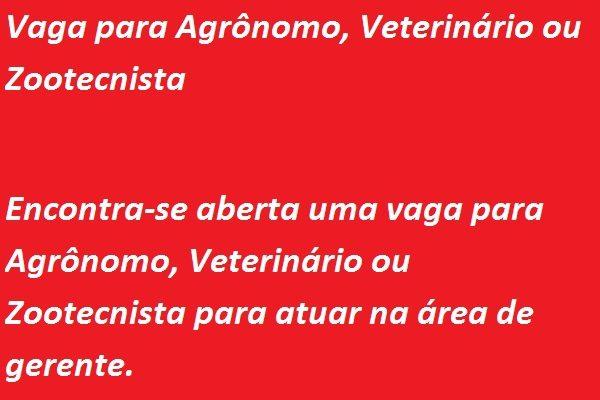 Agrônomo, Veterinário ou Zootecnista