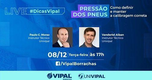 Vipal Borrachas promove lives sobre pressão dos pneus
