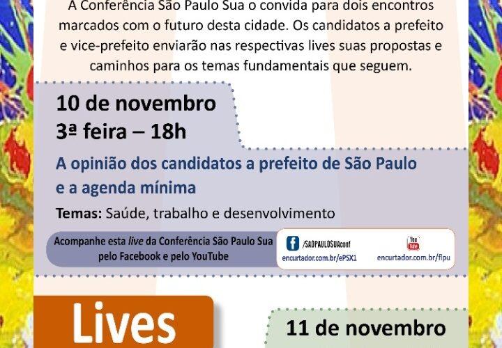 Lives abordam propostas de candidatos a prefeito de SP