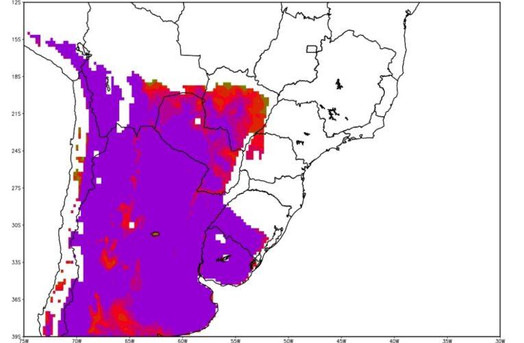 Neve que afetará metade do Brasil