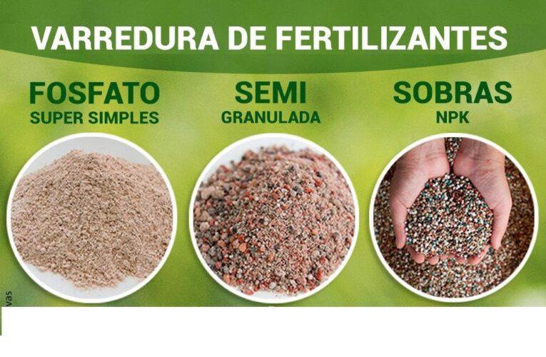 Sobras de Adubos N-P-K e Fertilizantes Varredura p/Ton