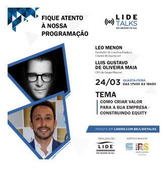 """LIDE Talks traz o método """"Constua Equity"""" para o debate"""