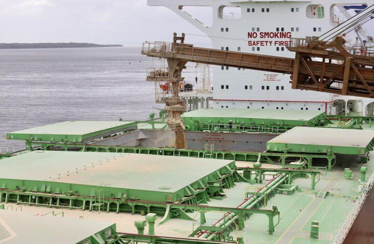 Maior navio graneleiro de soja do mundo está atracado no Paraná