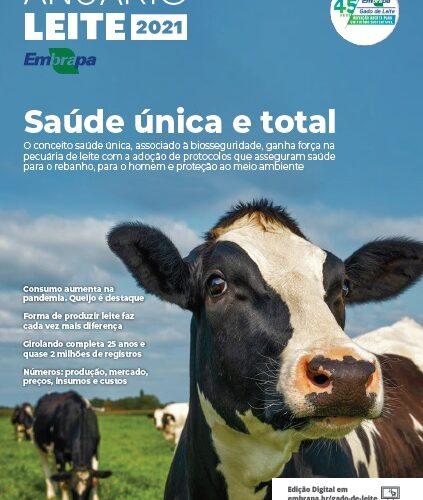 Crescimento do consumo de lácteos na pandemia é um dos temas do Anuário Leite 2021, da Embrapa Gado de Leite, disponível para download