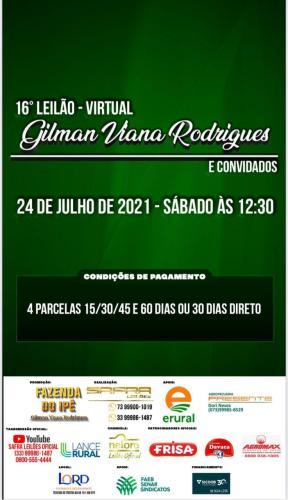 Gilman Viana oferta 1.200 bezerros em leilão virtual, no dia 24 de julho